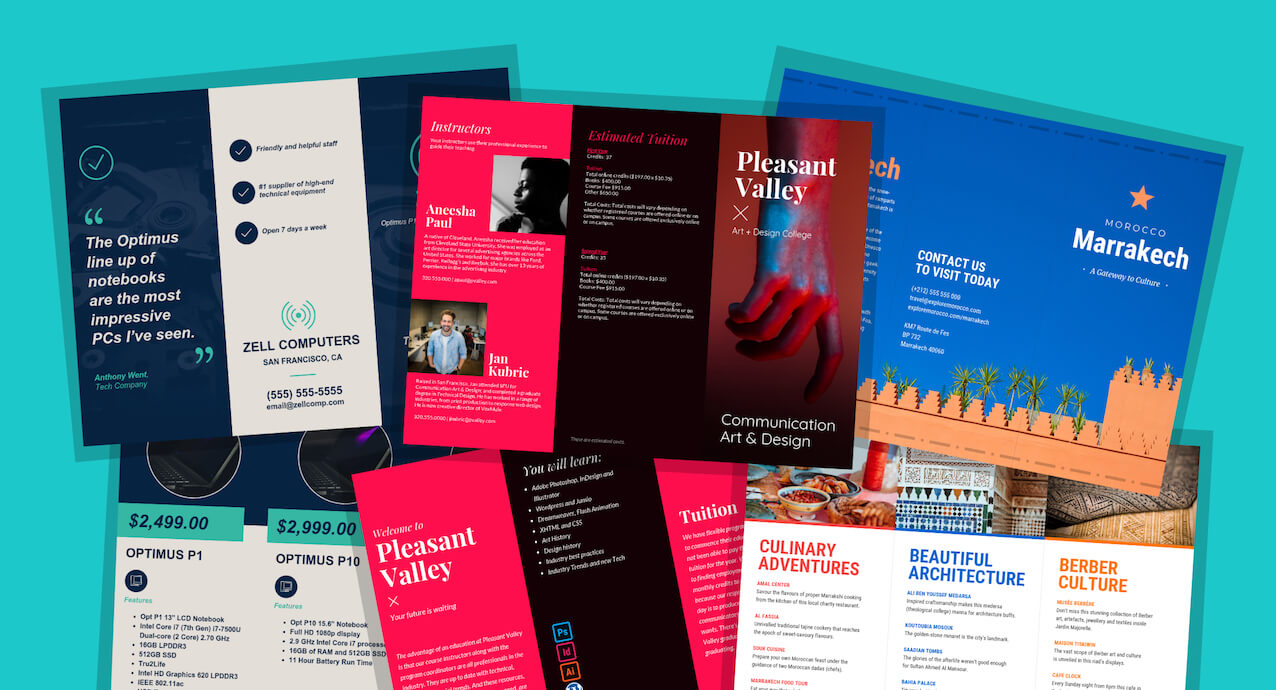21 Brochure Templates And Design Tips To Promote Your Intended For Good Brochure Templates