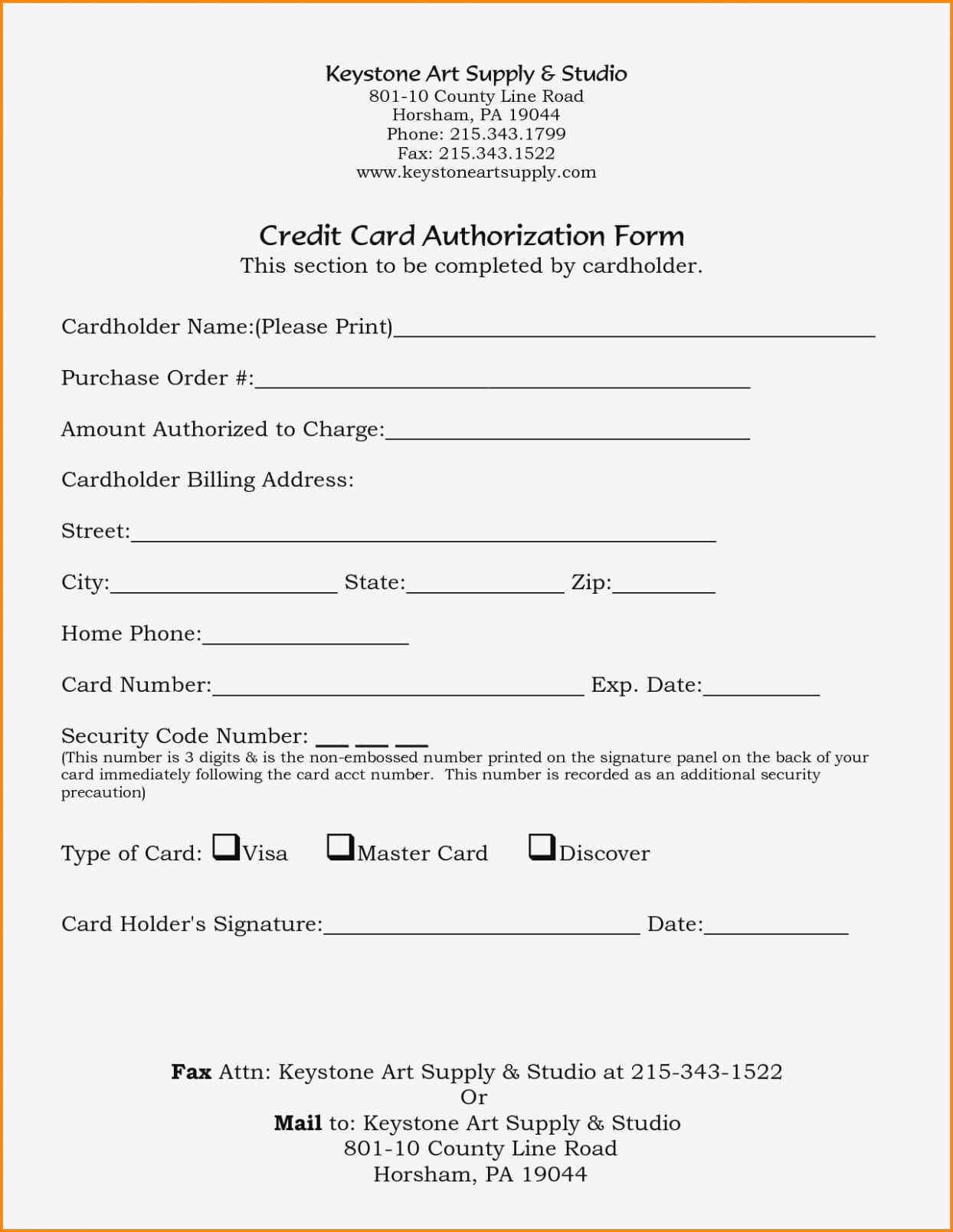 21+ Credit Card Authorization Form Template Pdf Fillable 2019!! Regarding Credit Card Billing Authorization Form Template
