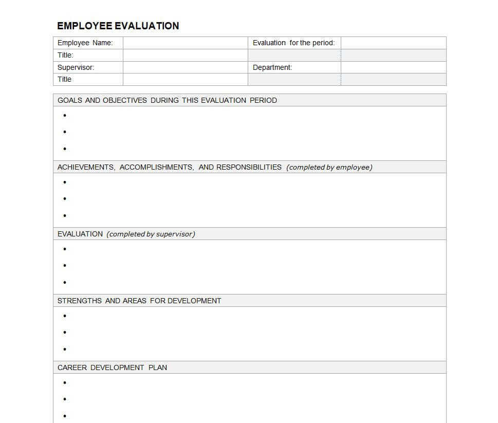 23 Images Of Evaluation Outline Template Blank | Masorler Pertaining To Blank Evaluation Form Template