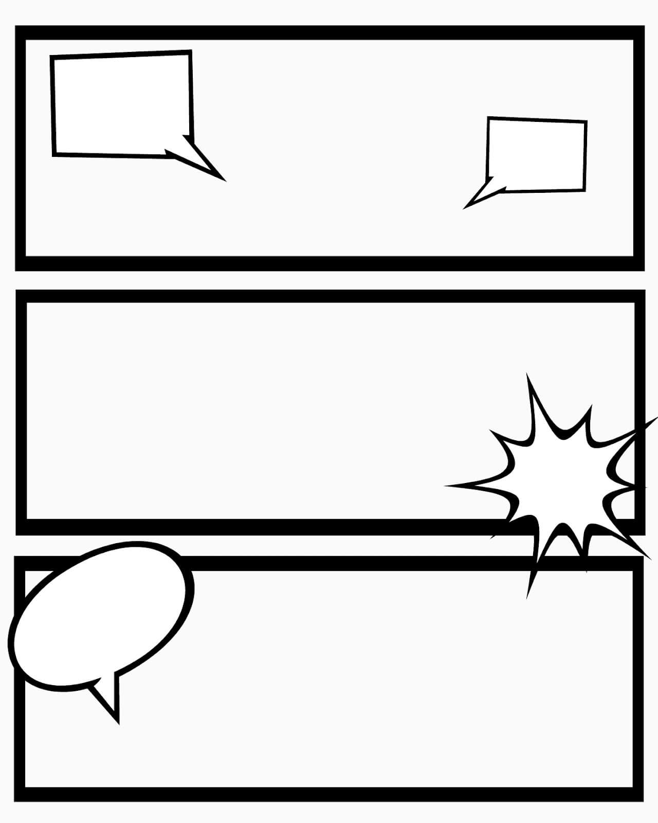 24 Images Of 8 Box Comic Strip Template With Blank Captions For Printable Blank Comic Strip Template For Kids