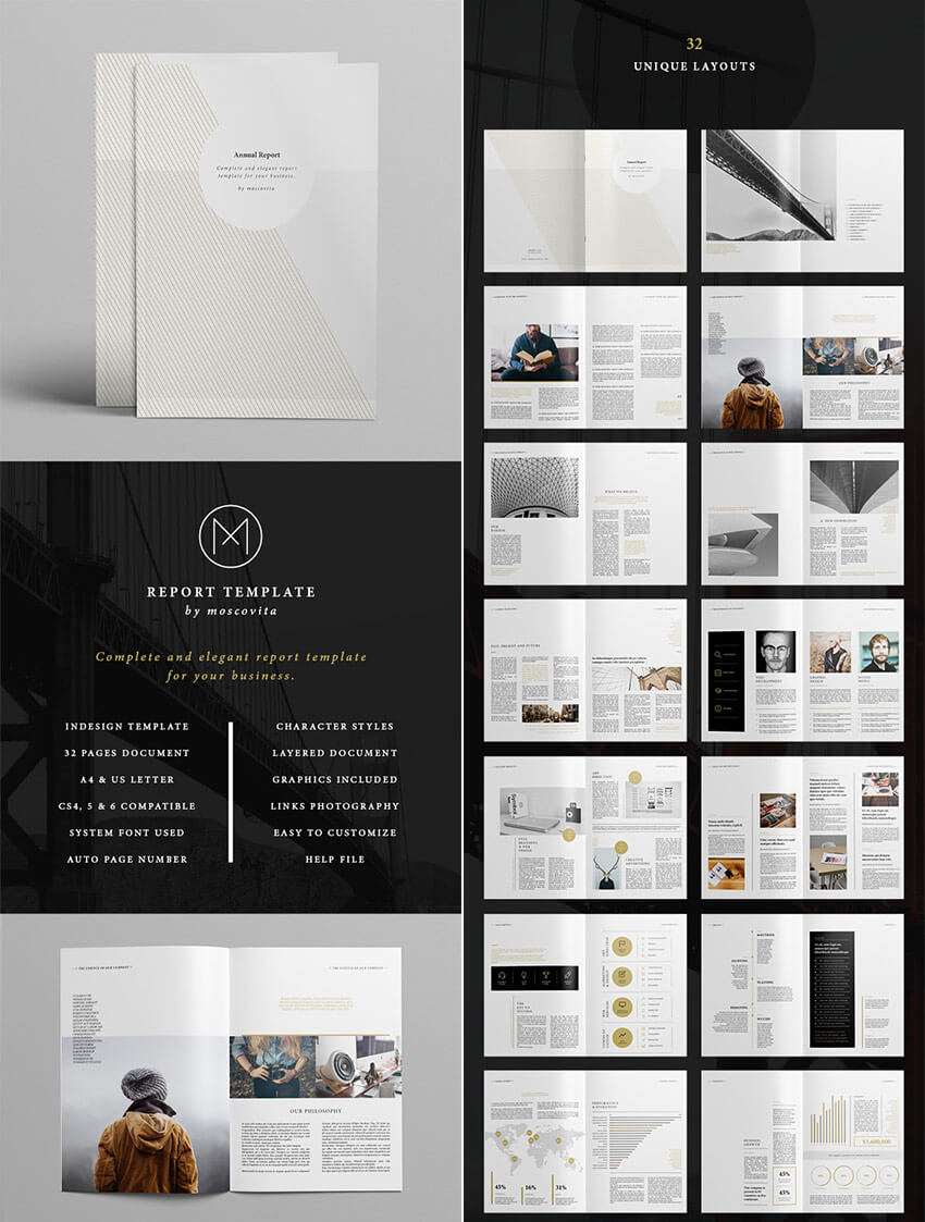 25+ Best Annual Report Templates – With Creative Indesign In Free Indesign Report Templates