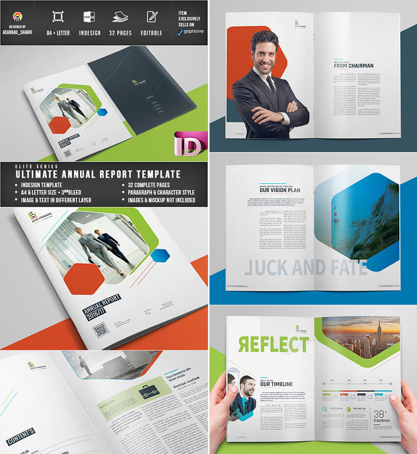 25+ Best Annual Report Templates – With Creative Indesign Intended For Free Indesign Report Templates
