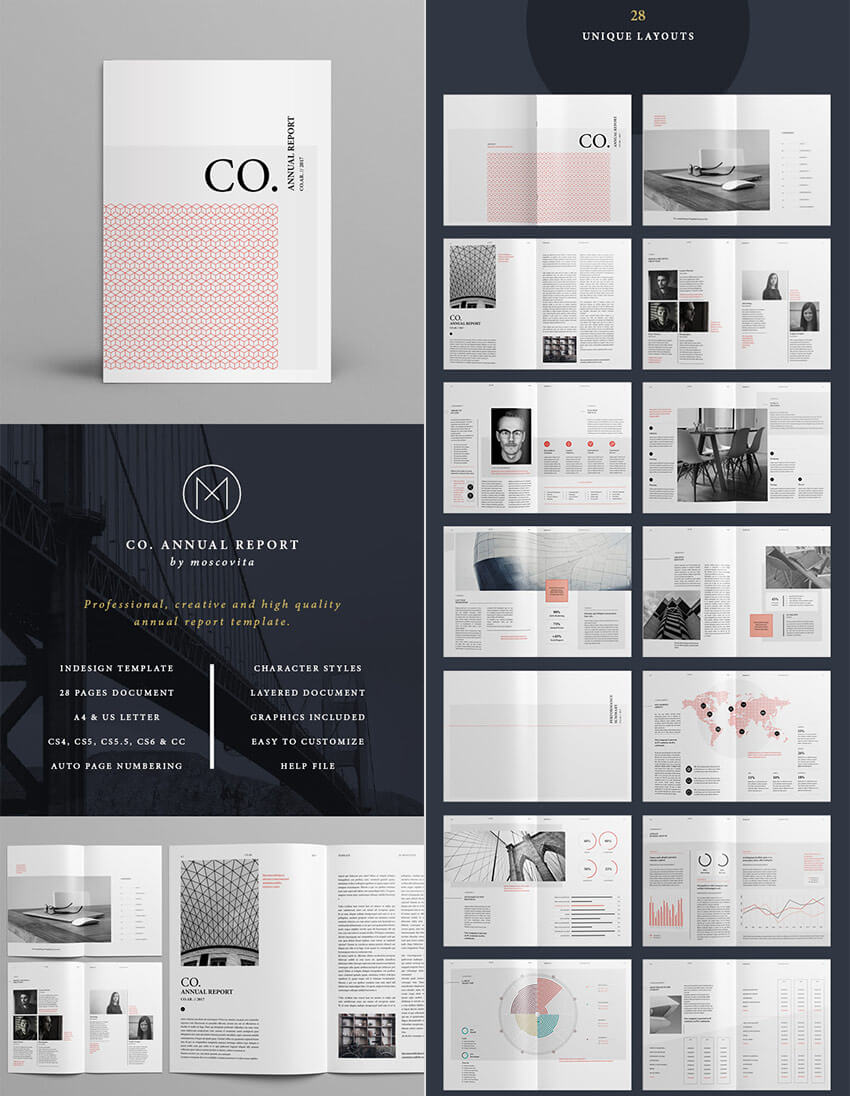 25+ Best Annual Report Templates – With Creative Indesign Regarding Free Indesign Report Templates
