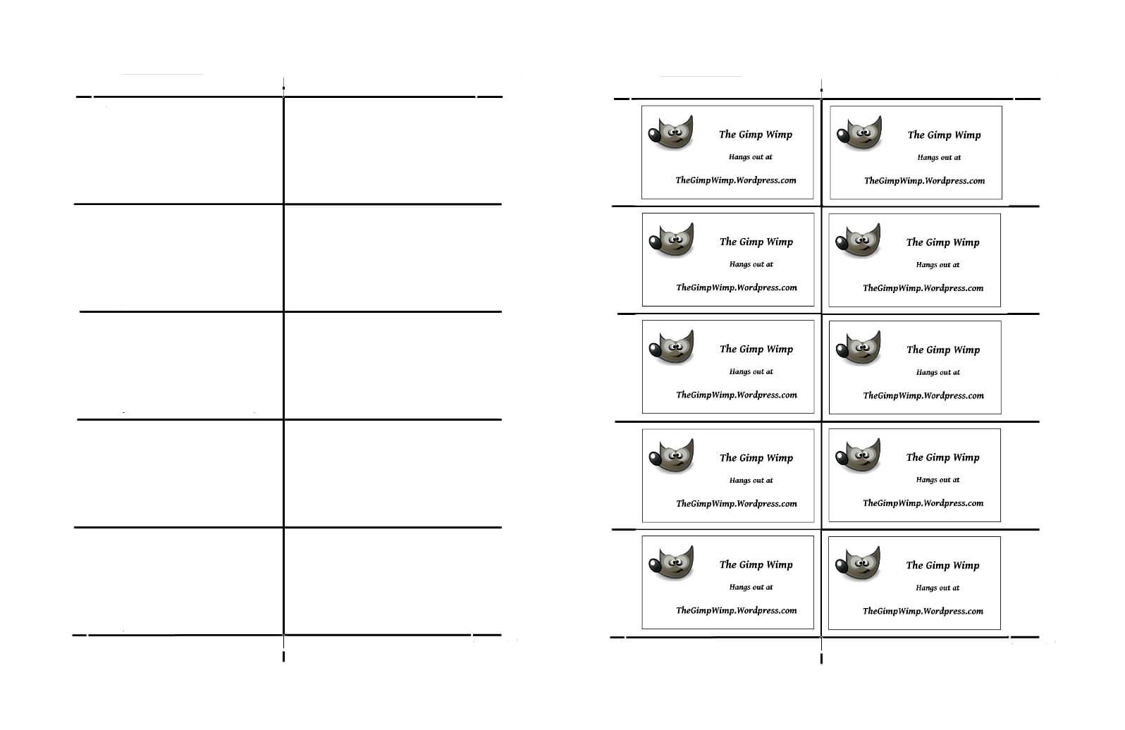 26 Images Of Card Template Gimp   Vanscapital In Gimp Business Card Template