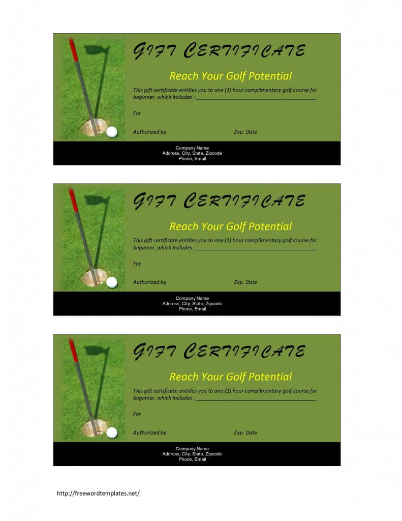 28+ [ Golf Certificate Template ] | Golf Certificate Within Golf Certificate Templates For Word