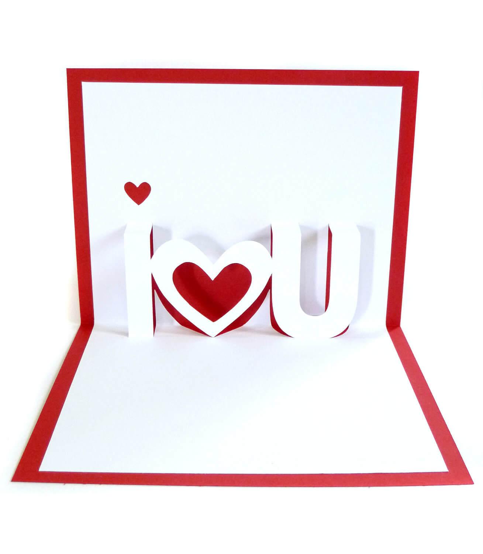 28+ [ I Love U Pop Up Card Template ] | Thank You Pop Up With Regard To I Love You Pop Up Card Template