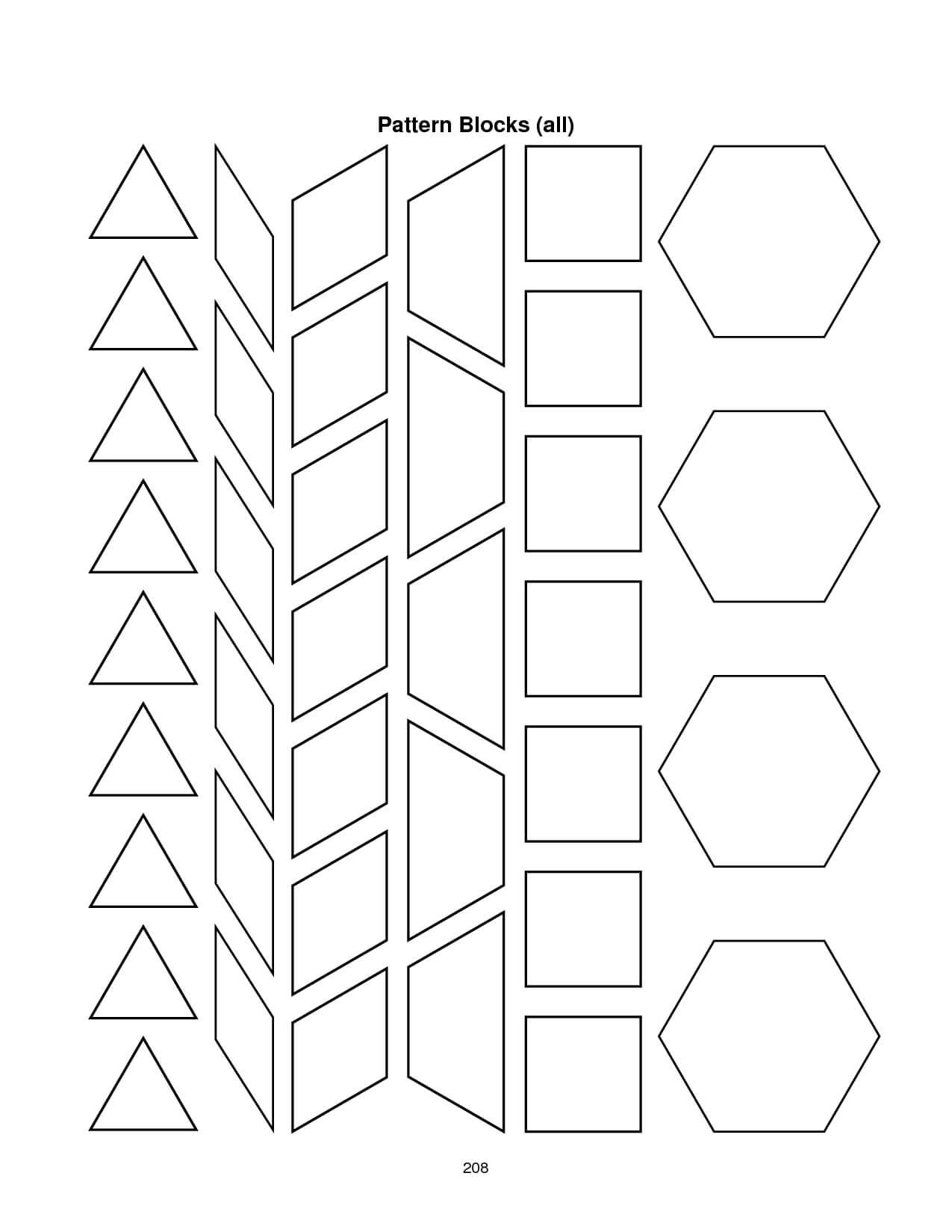 28 Images Of Blank Alphabet Pattern Block Template | Migapps Within Blank Pattern Block Templates