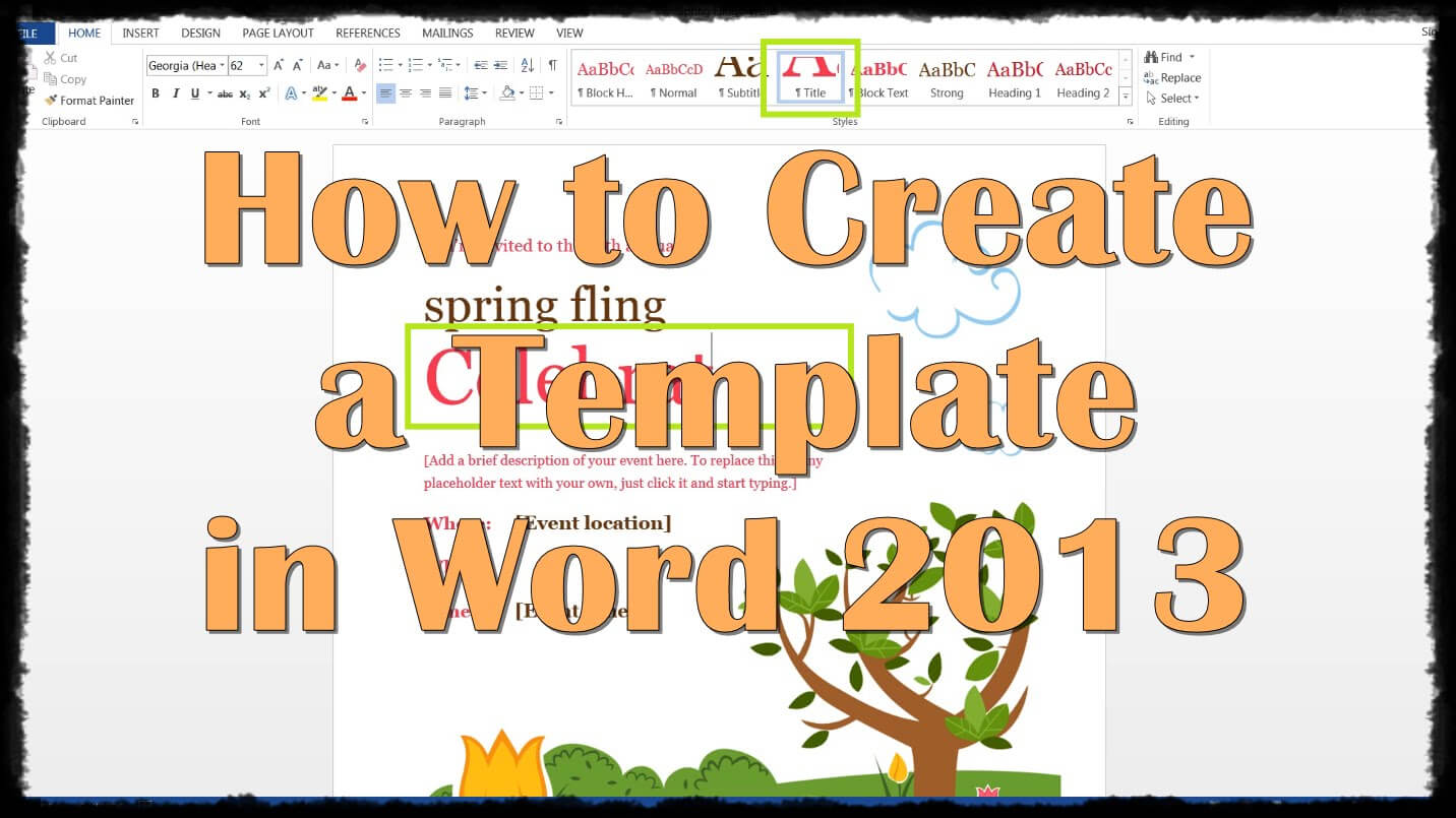 28 Images Of Creating A New Template In Word 2013   Splinket Intended For Creating Word Templates 2013