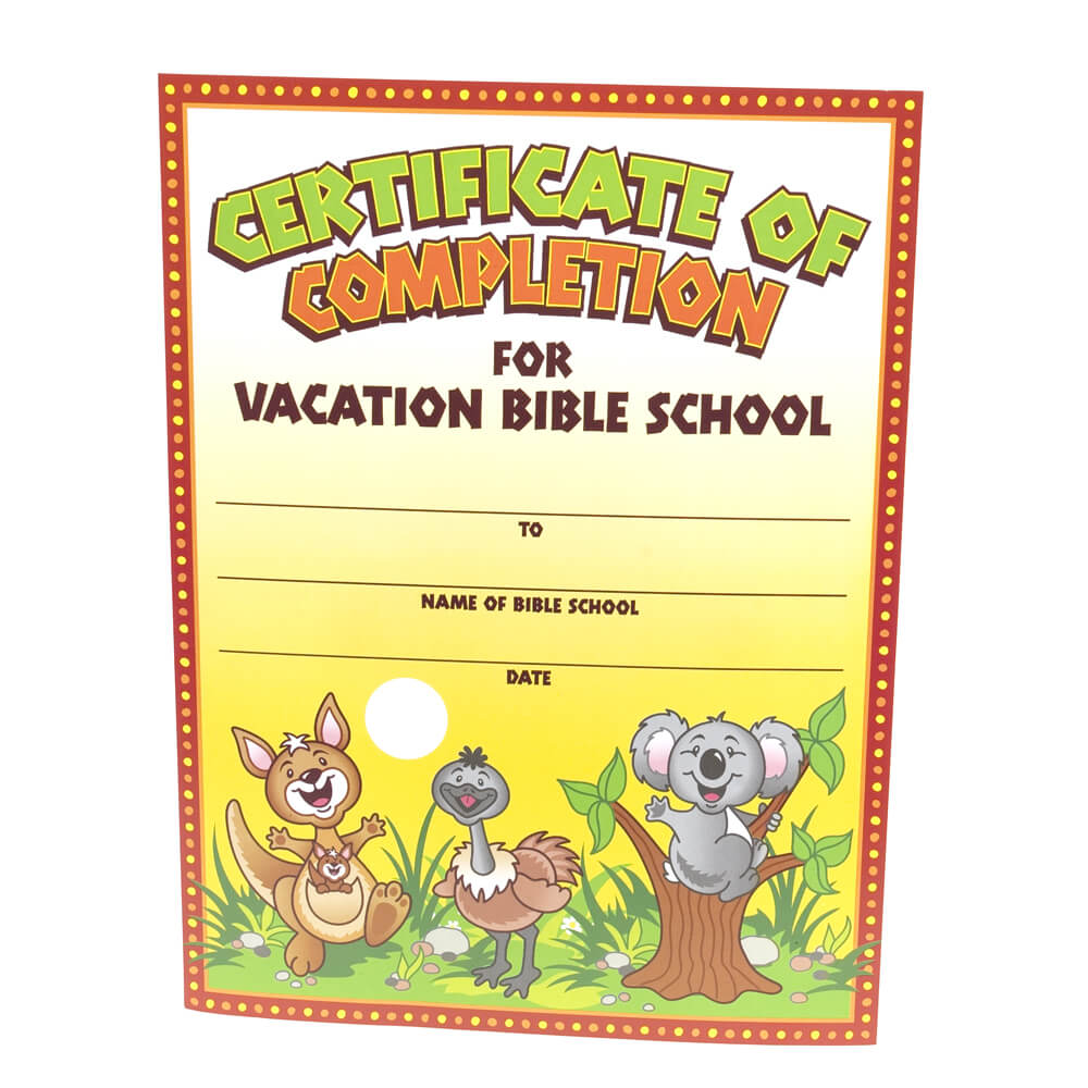28+ [ Vbs Certificate Template ] | Vacation Bible School Inside Vbs Certificate Template