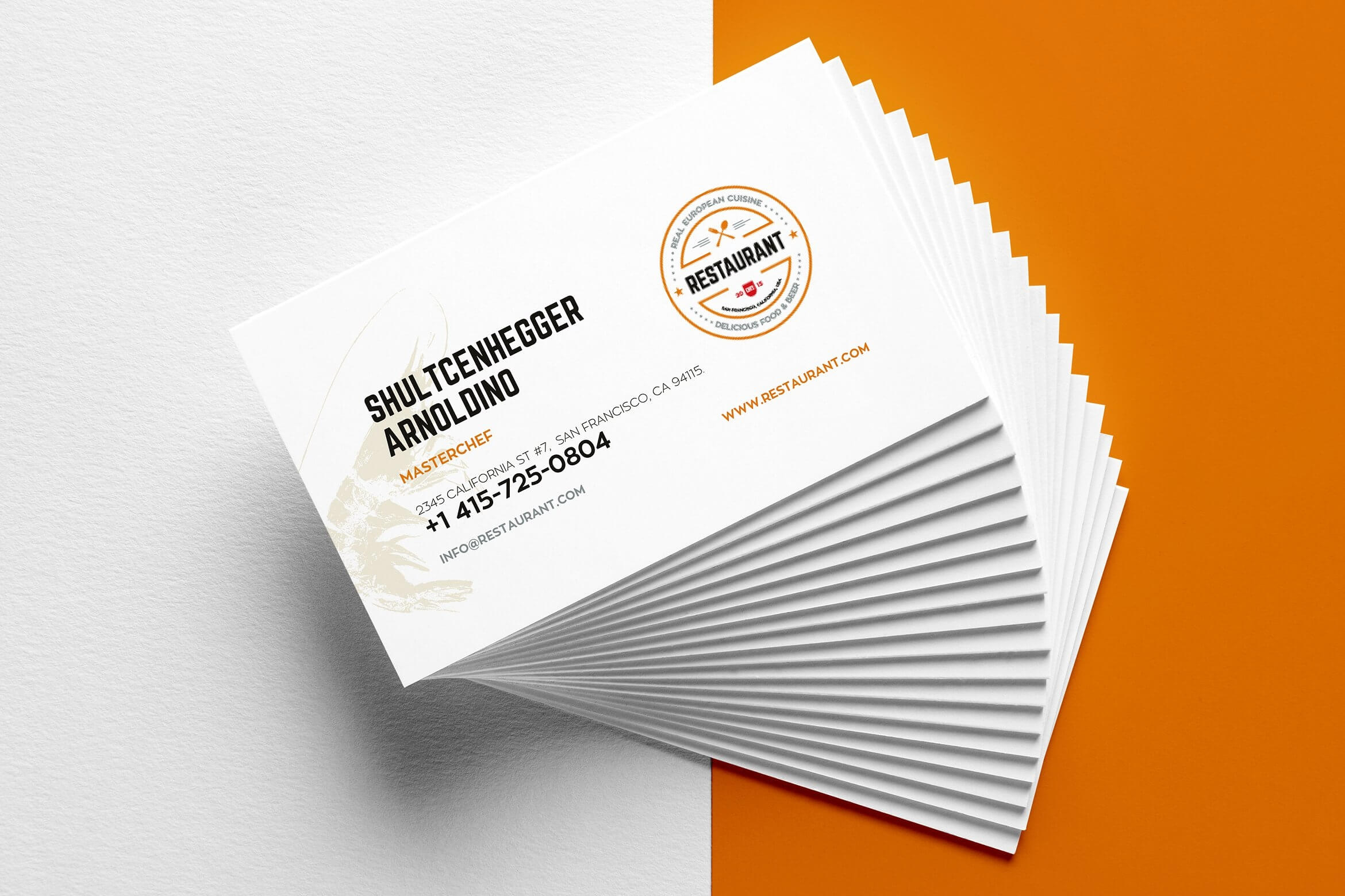 29+ Creative Restaurant Business Card Templates - Ai, Apple Intended For Front And Back Business Card Template Word