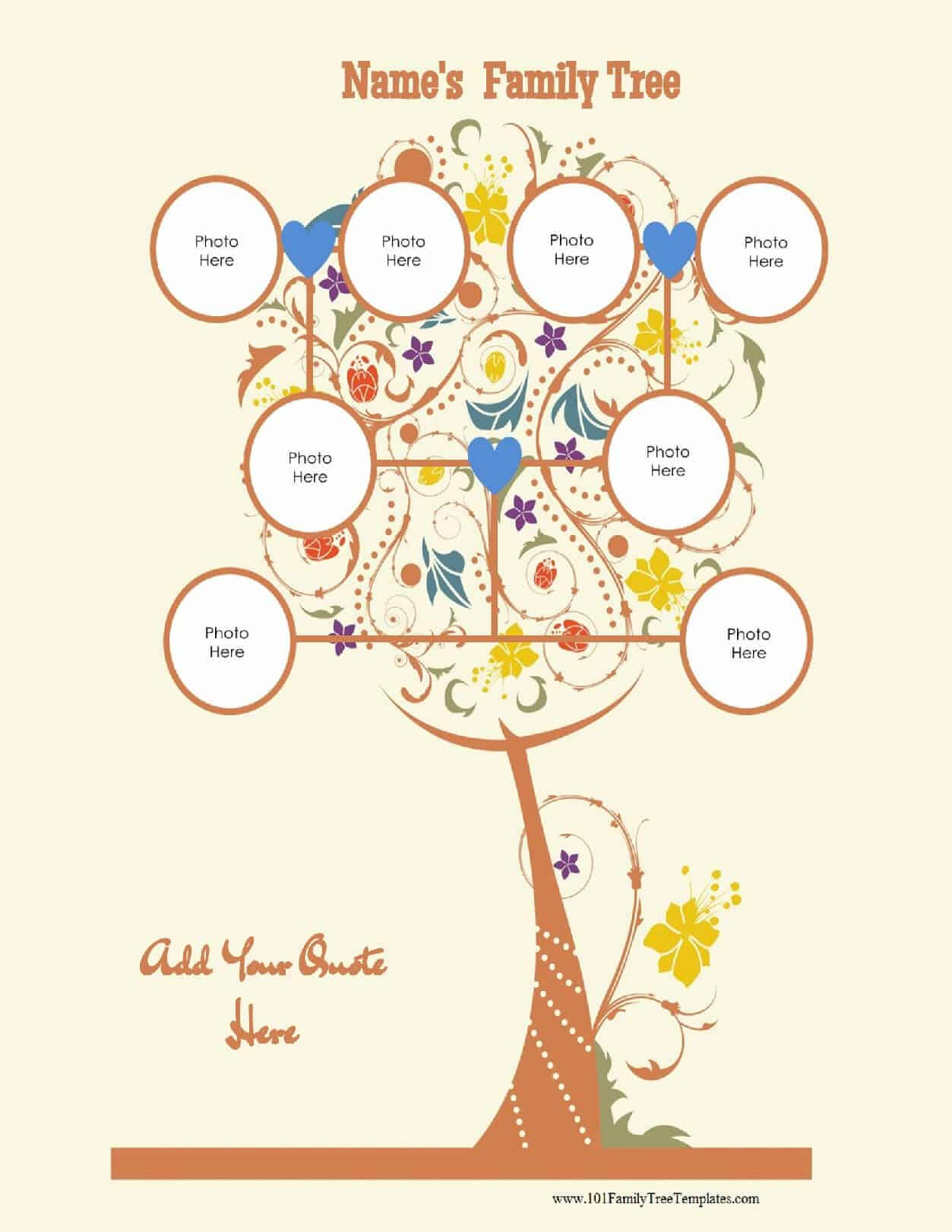 3 Generation Family Tree Generator | All Templates Are Free Pertaining To Blank Family Tree Template 3 Generations
