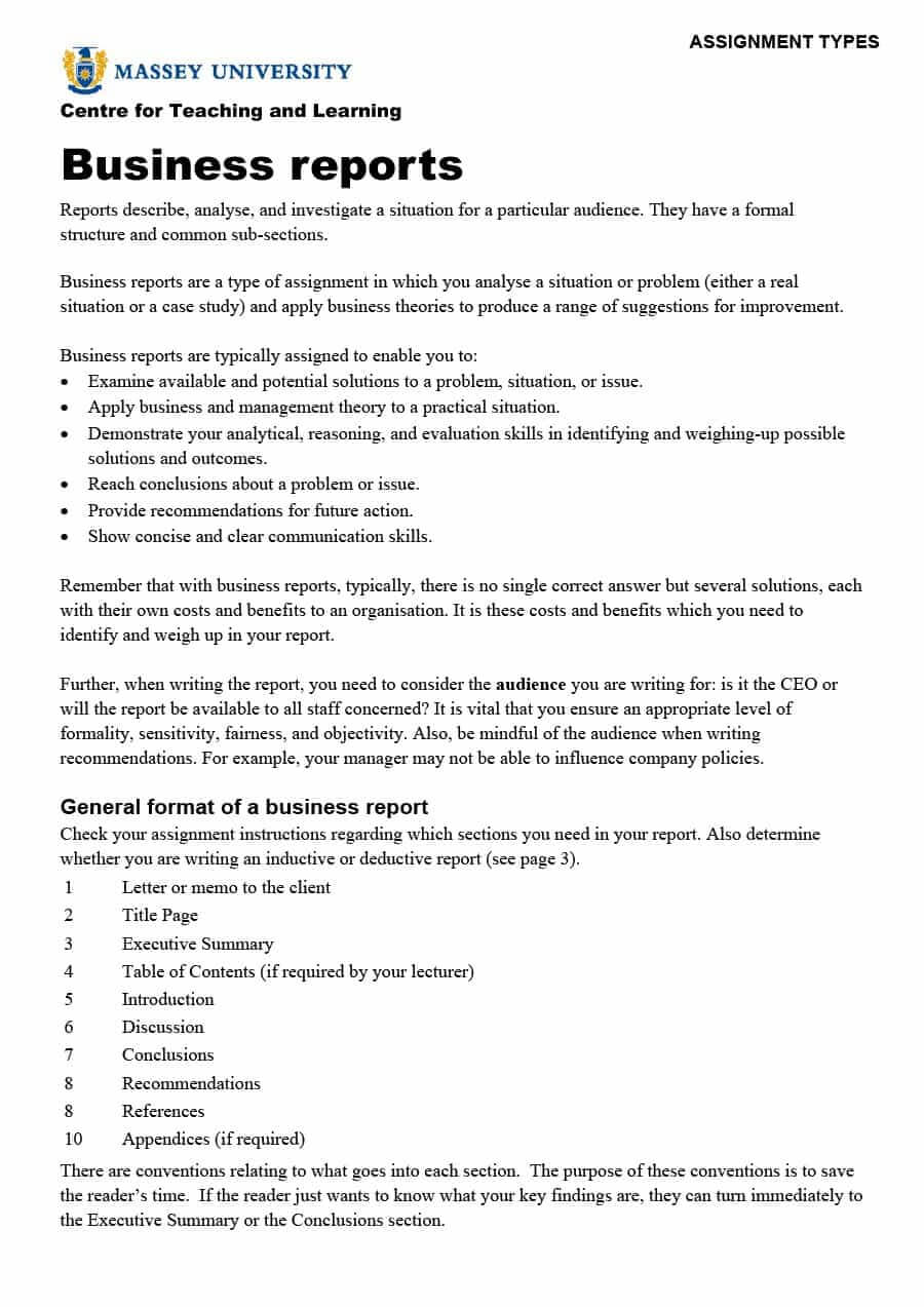 30+ Business Report Templates & Format Examples ᐅ Template Lab Regarding Template On How To Write A Report