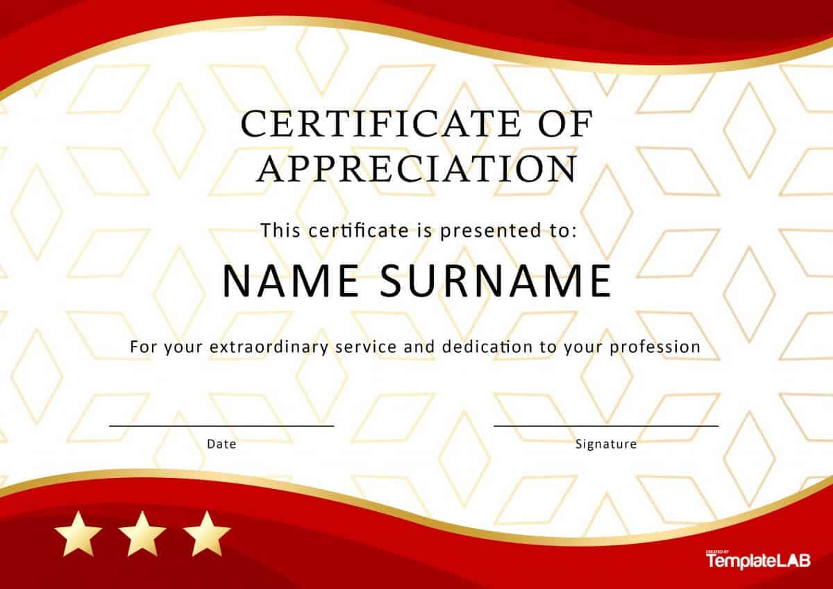 30 Free Certificate Of Appreciation Templates And Letters For Best Employee Award Certificate Templates