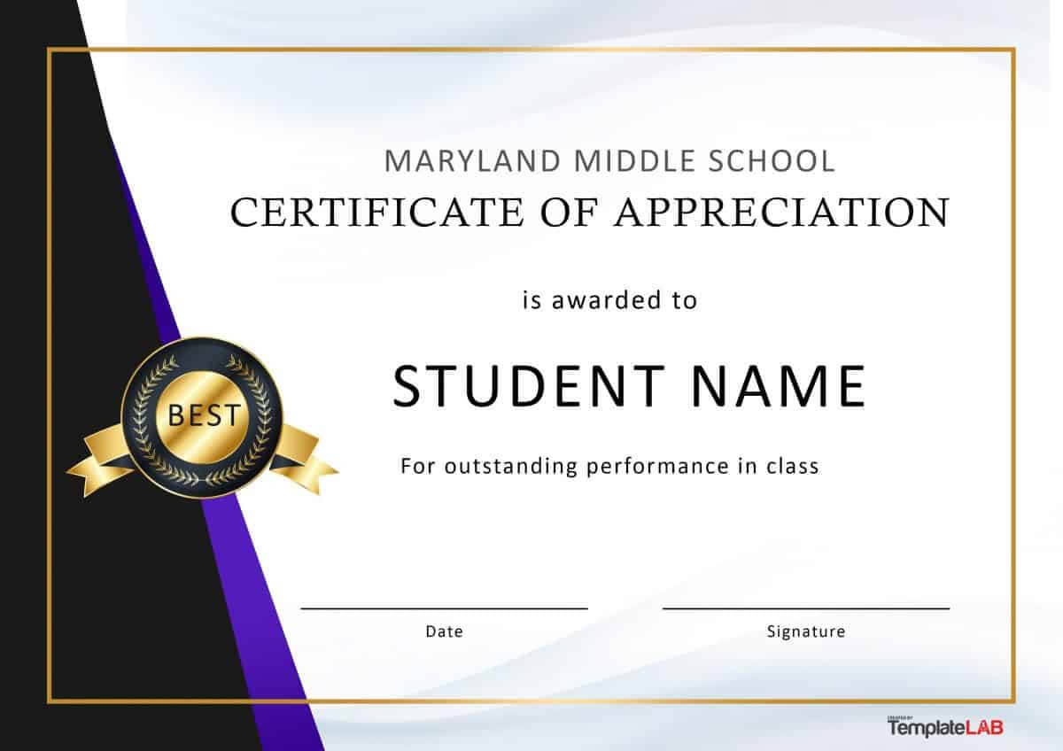 30 Free Certificate Of Appreciation Templates And Letters For Certificates Of Appreciation Template