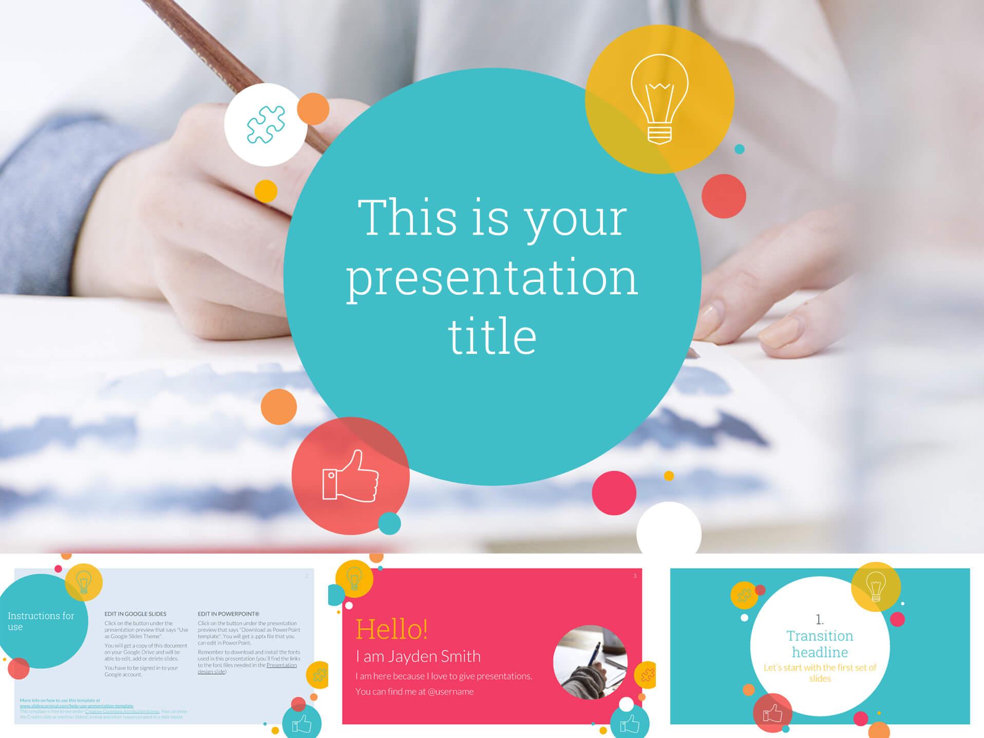 30 Free Google Slides Templates For Your Next Presentation Regarding Fun Powerpoint Templates Free Download