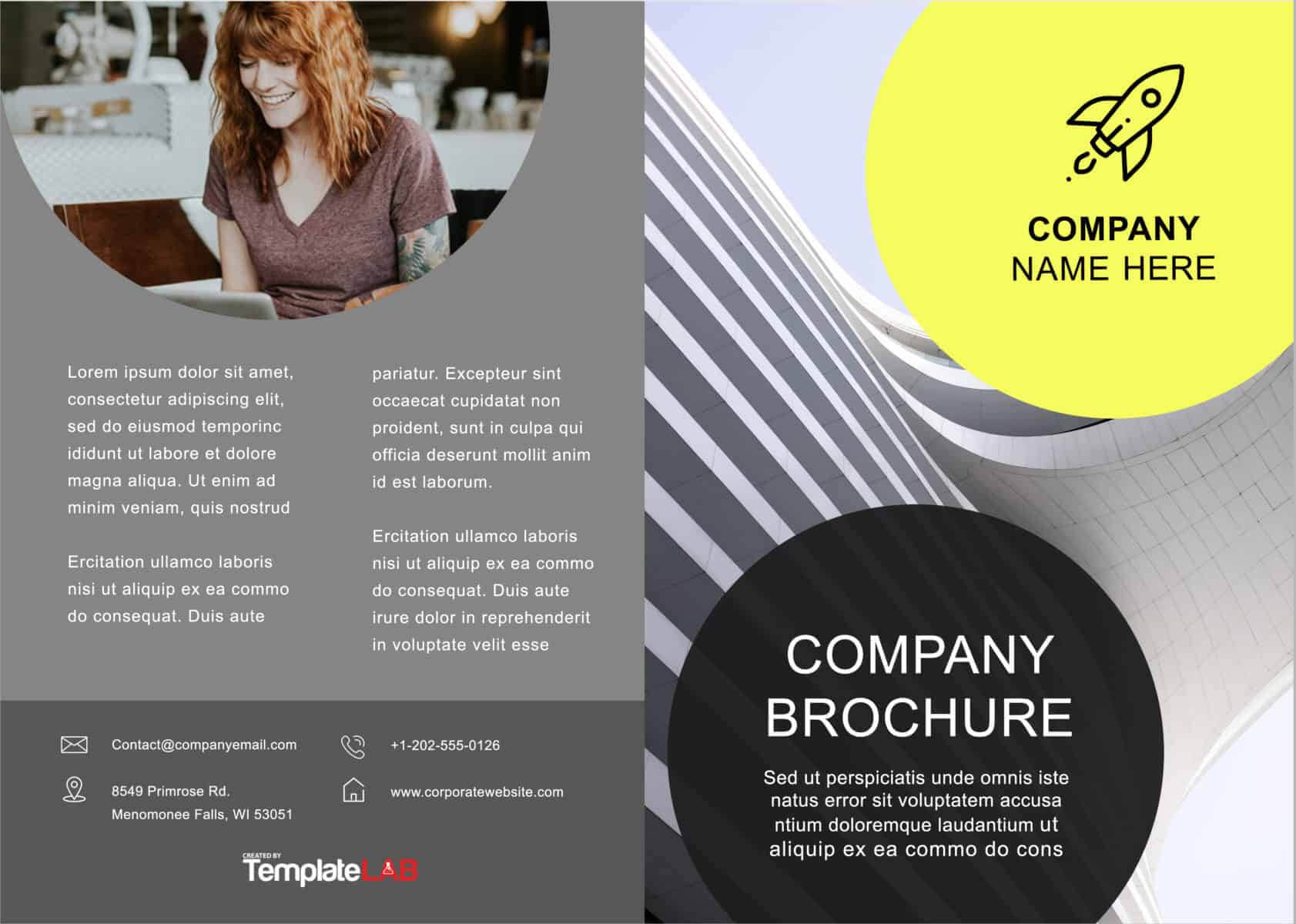 33 Free Brochure Templates (Word + Pdf) ᐅ Template Lab Pertaining To Fancy Brochure Templates