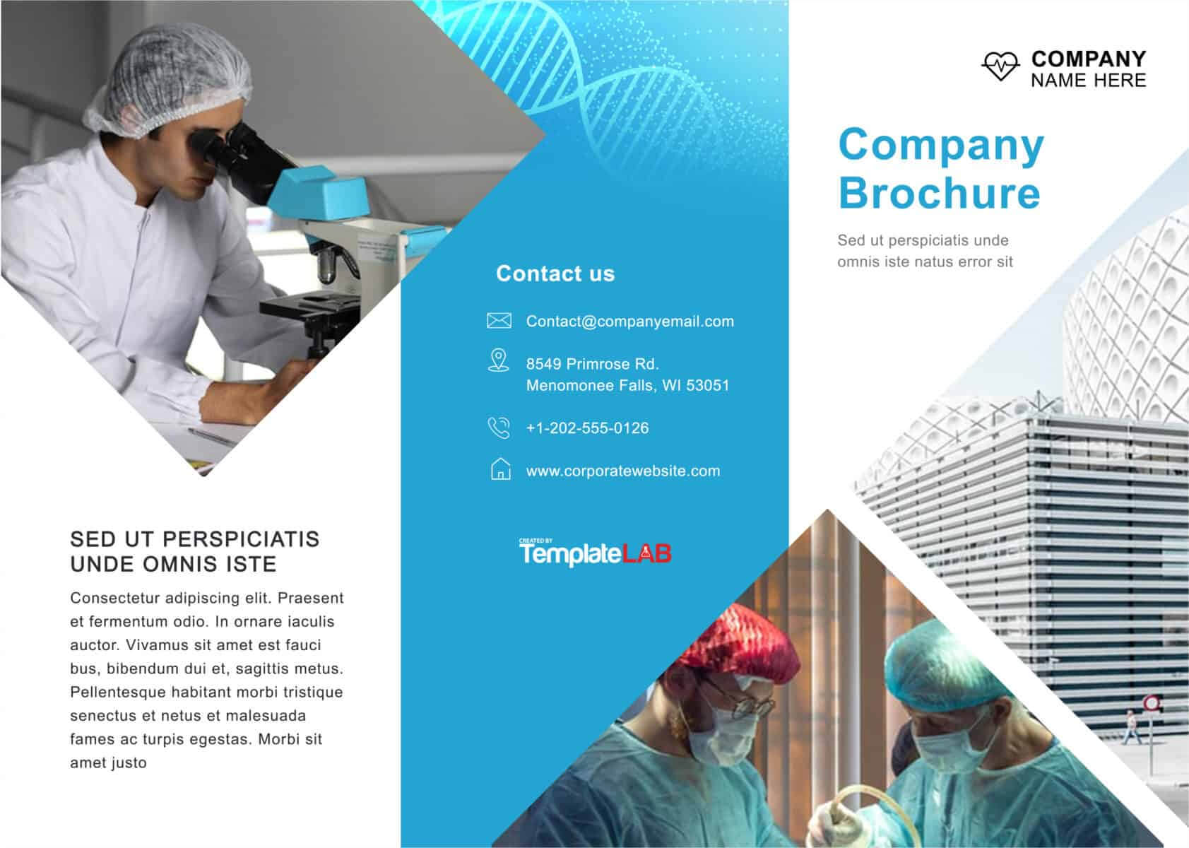 33 Free Brochure Templates (Word + Pdf) ᐅ Template Lab Within Engineering Brochure Templates Free Download