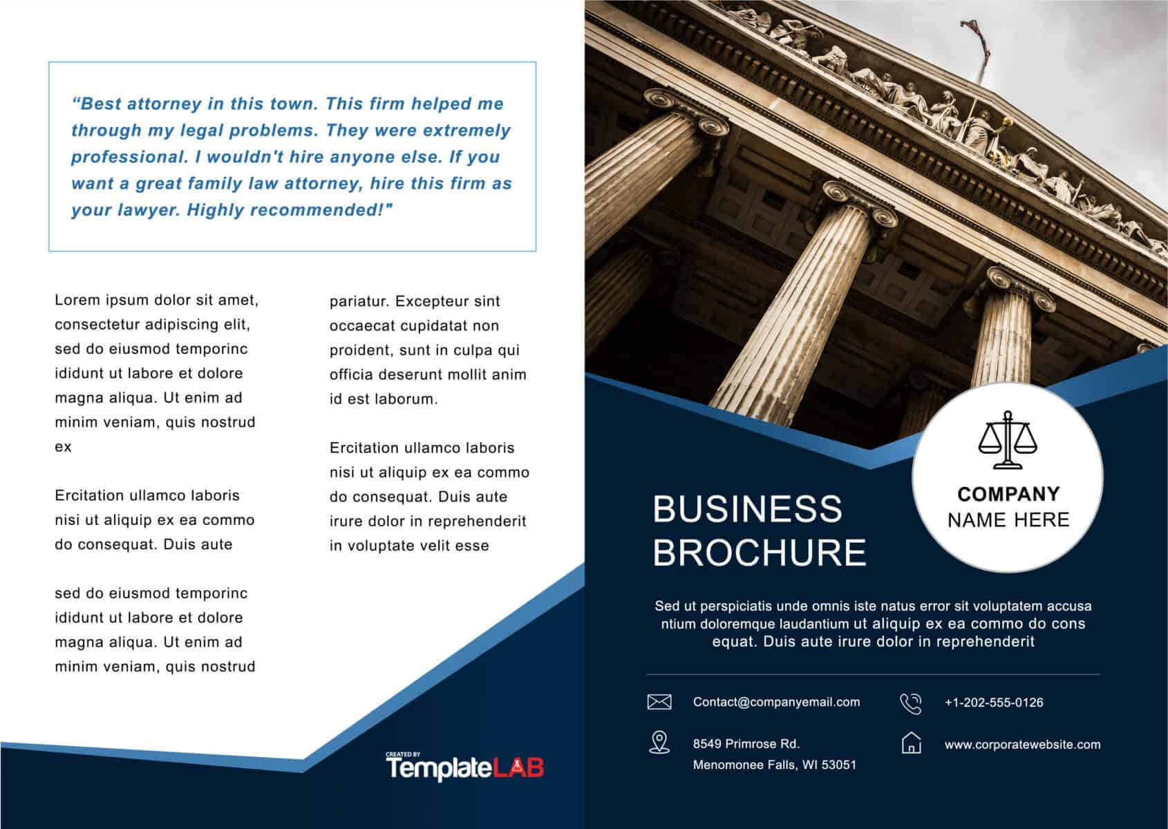 33 Free Brochure Templates (Word + Pdf) ᐅ Template Lab Within One Page Brochure Template