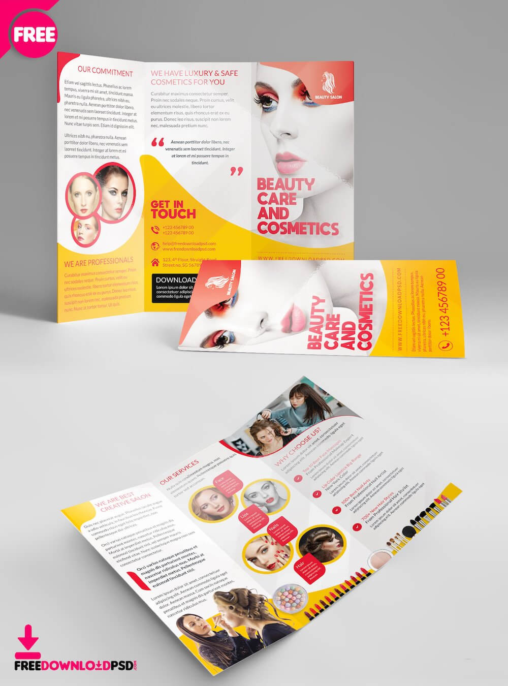 34 Best Free Brochure Mockups & Psd Templates 2019 - Colorlib Inside Single Page Brochure Templates Psd