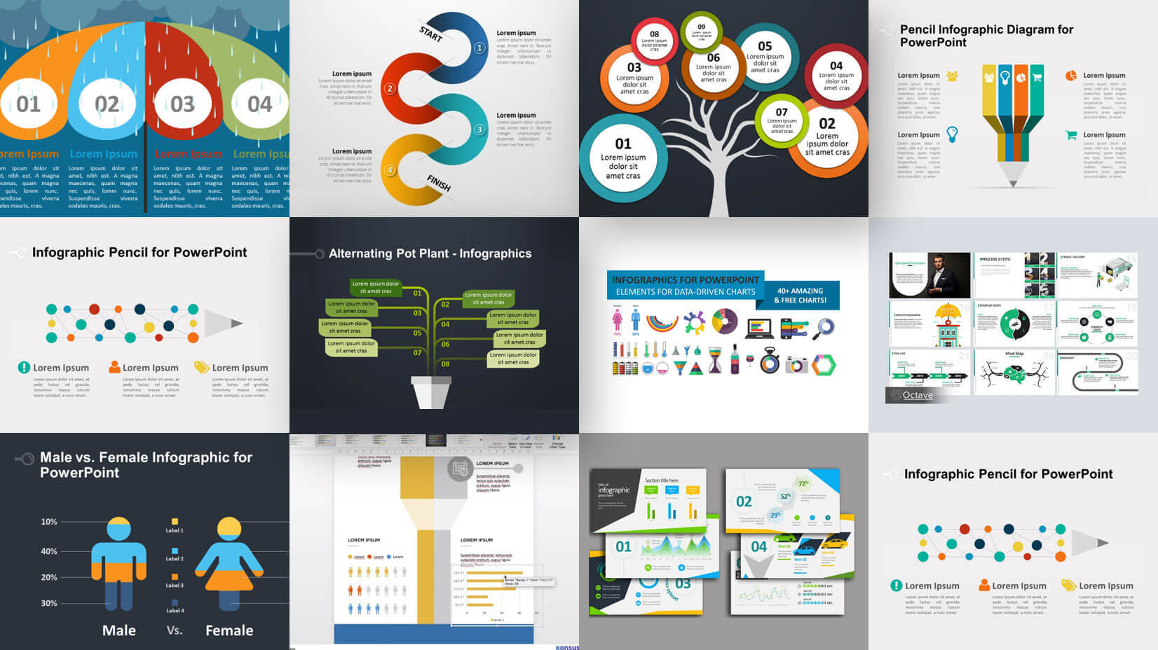 35+ Free Infographic Powerpoint Templates To Power Your With Regard To Sample Templates For Powerpoint Presentation
