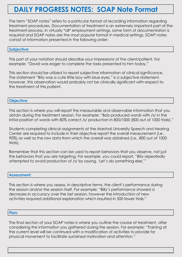 35+ Soap Note Examples (Blank Formats & Writing Tips) Regarding Soap Note Template Word