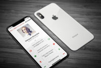 35 Vertical Business Card Mockups And Templates For Business in Iphone Business Card Template