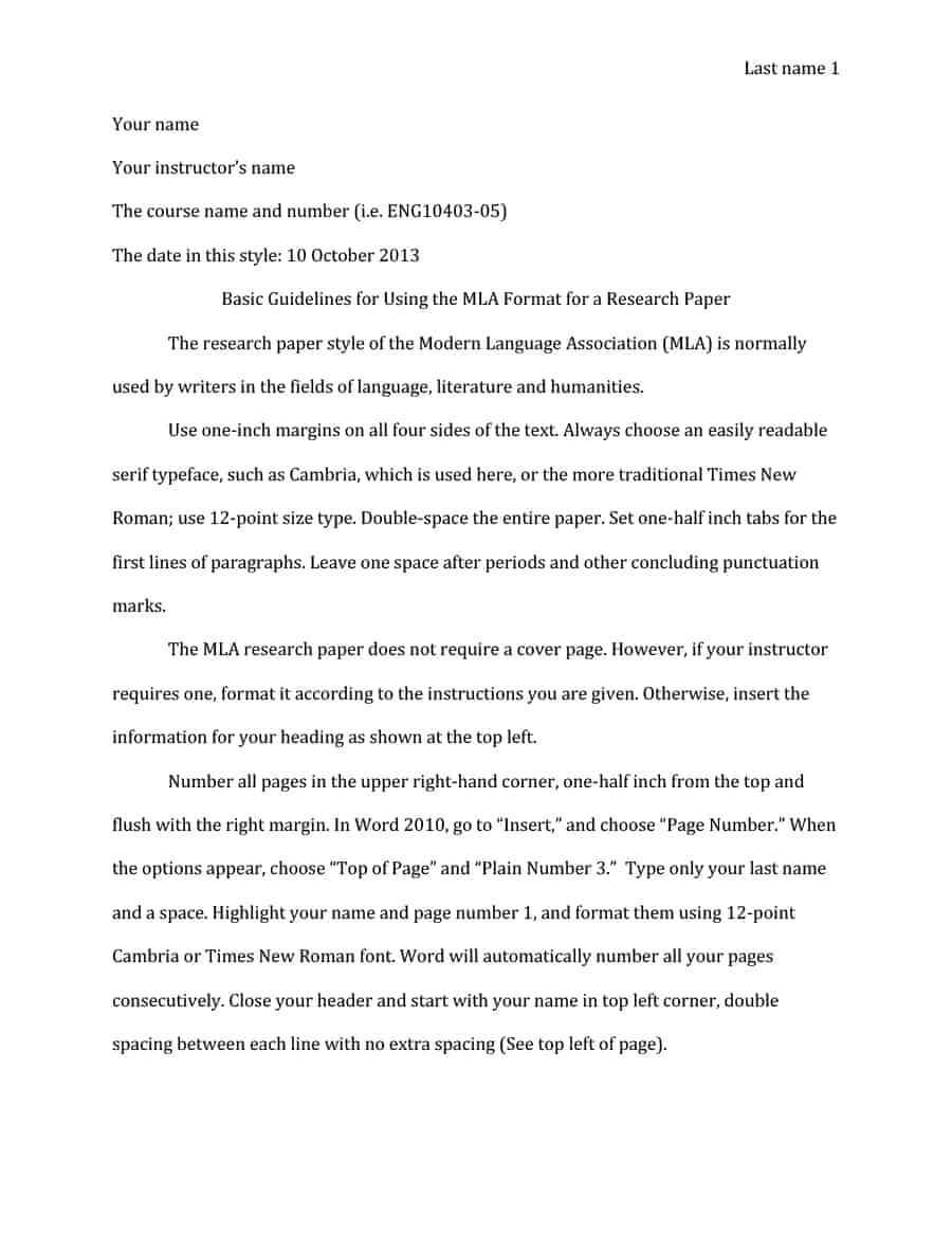 38 Free Mla Format Templates (+Mla Essay Format) ᐅ Template Lab Pertaining To Mla Format Word Template