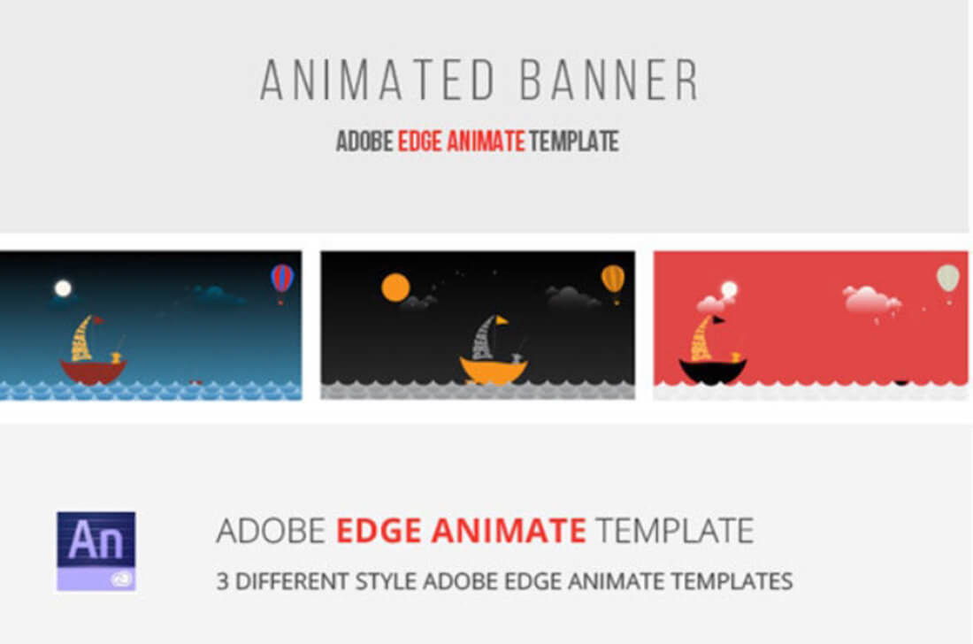 40 Awesome Edge Animate Templates Inside Animated Banner Template