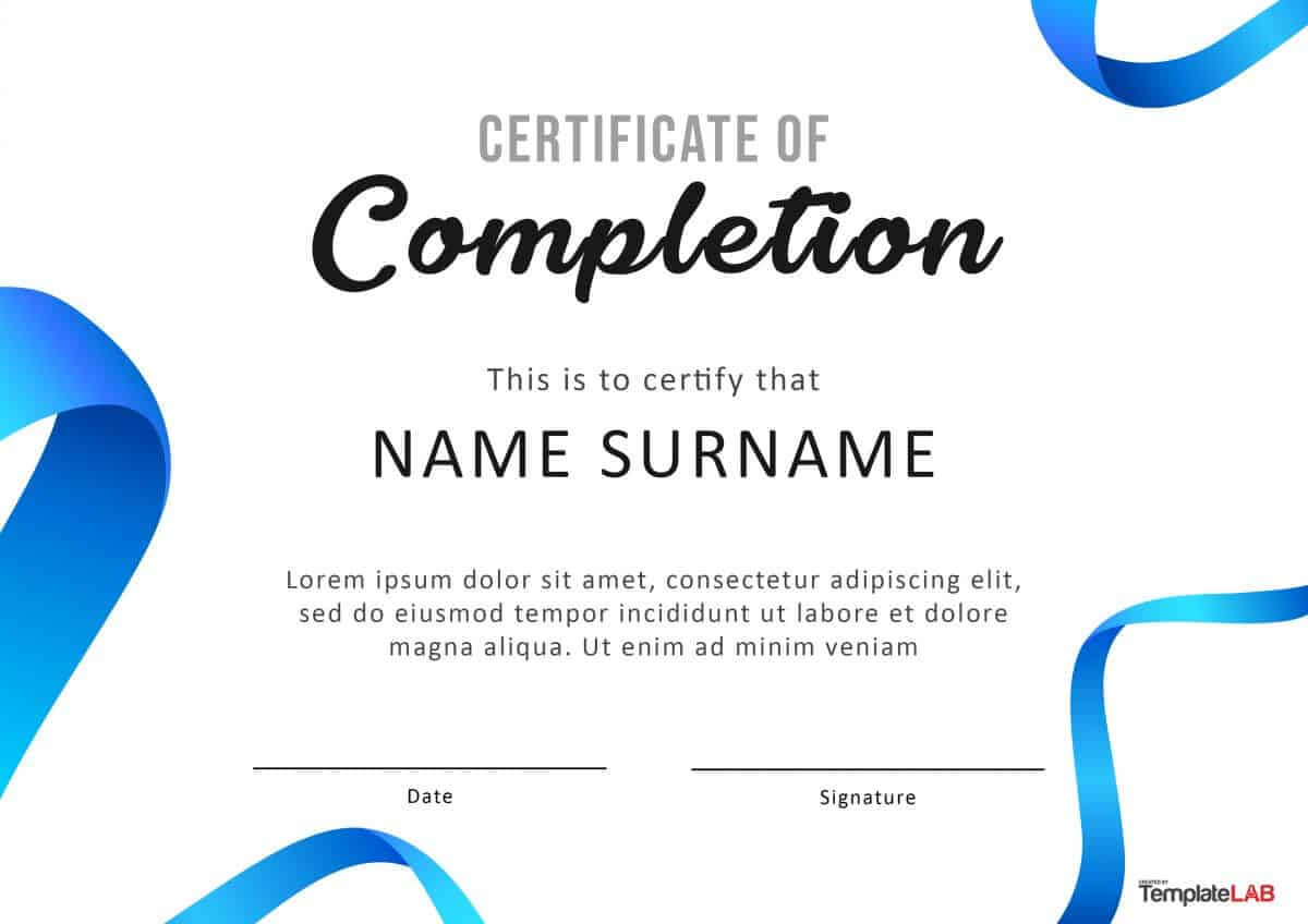 40 Fantastic Certificate Of Completion Templates [Word Inside Attendance Certificate Template Word