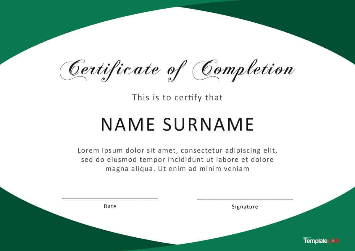 40 Fantastic Certificate Of Completion Templates [Word Inside Certificate Of Completion Word Template