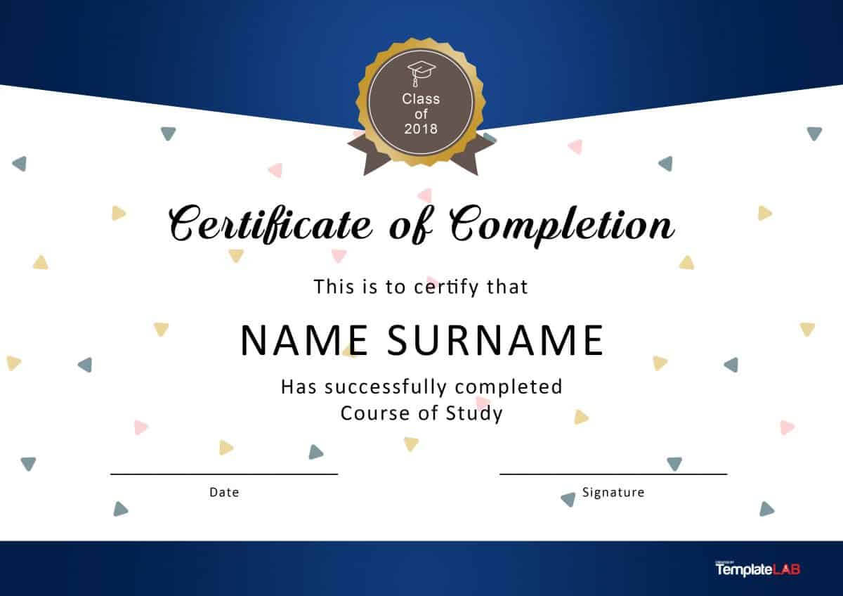 40 Fantastic Certificate Of Completion Templates [Word With Regard To Certificate Of Completion Template Free Printable