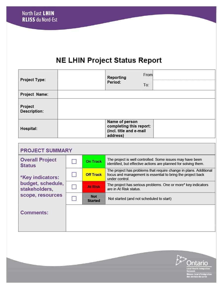 40+ Project Status Report Templates [Word, Excel, Ppt] ᐅ In Project Weekly Status Report Template Ppt