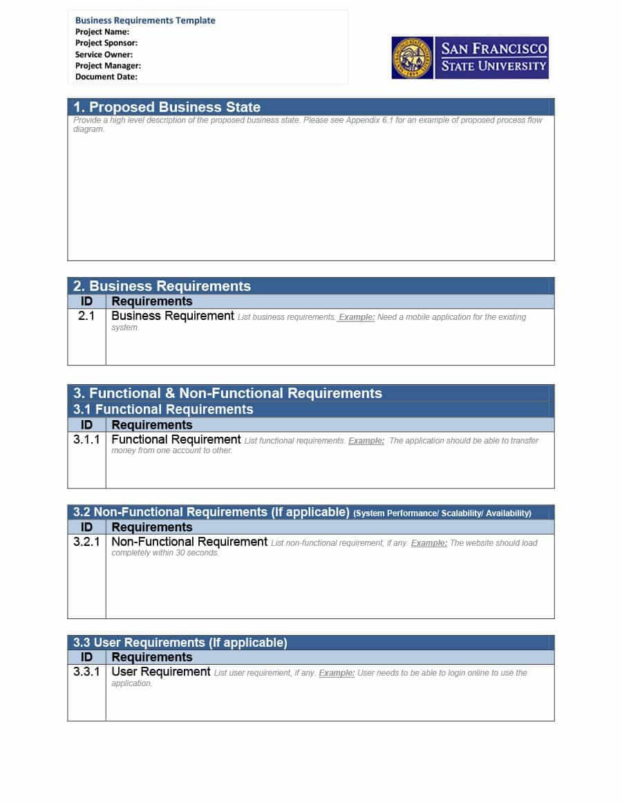 40+ Simple Business Requirements Document Templates ᐅ Intended For Report Requirements Template