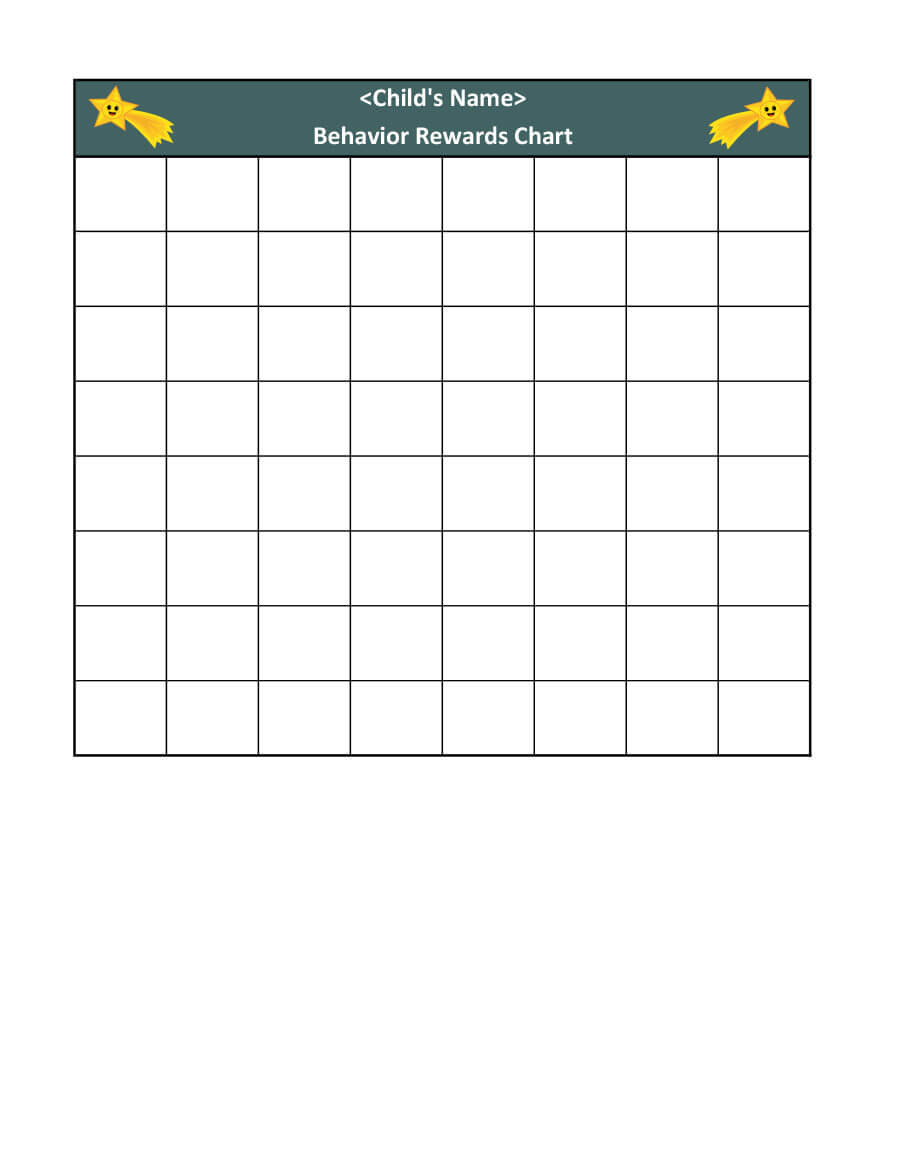 44 Printable Reward Charts For Kids (Pdf, Excel & Word) With Blank Reward Chart Template