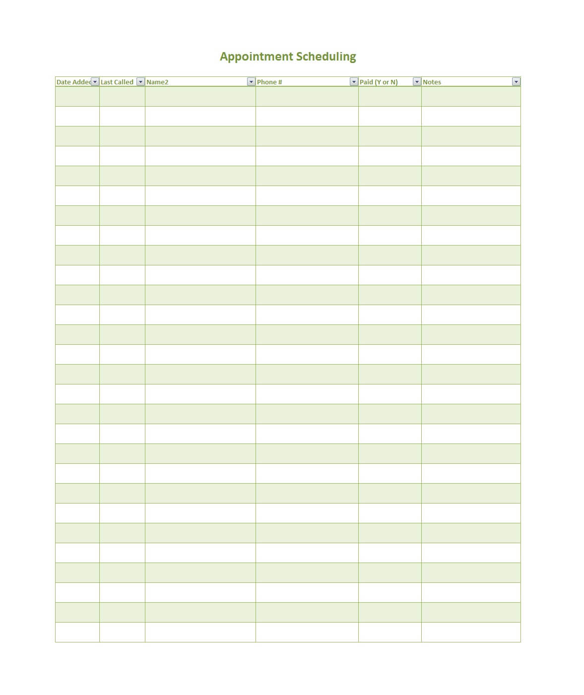 45 Printable Appointment Schedule Templates [& Appointment Within Appointment Sheet Template Word