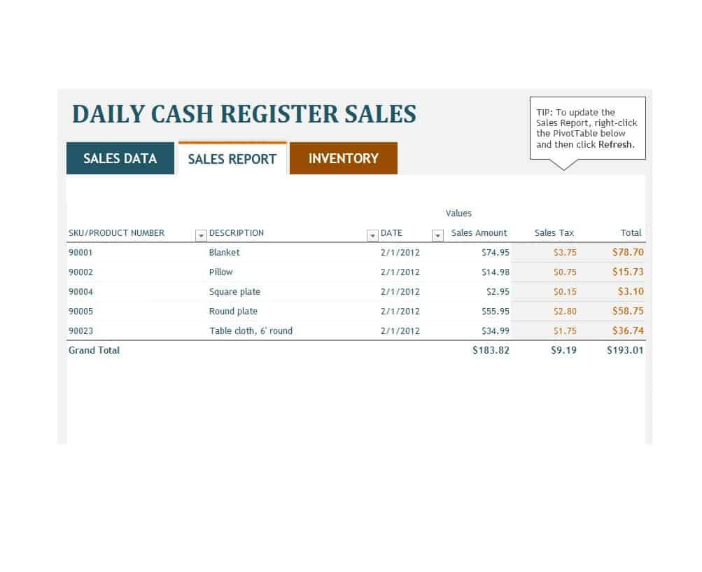 45 Sales Report Templates [Daily, Weekly, Monthly Salesman With Regard To Sale Report Template Excel