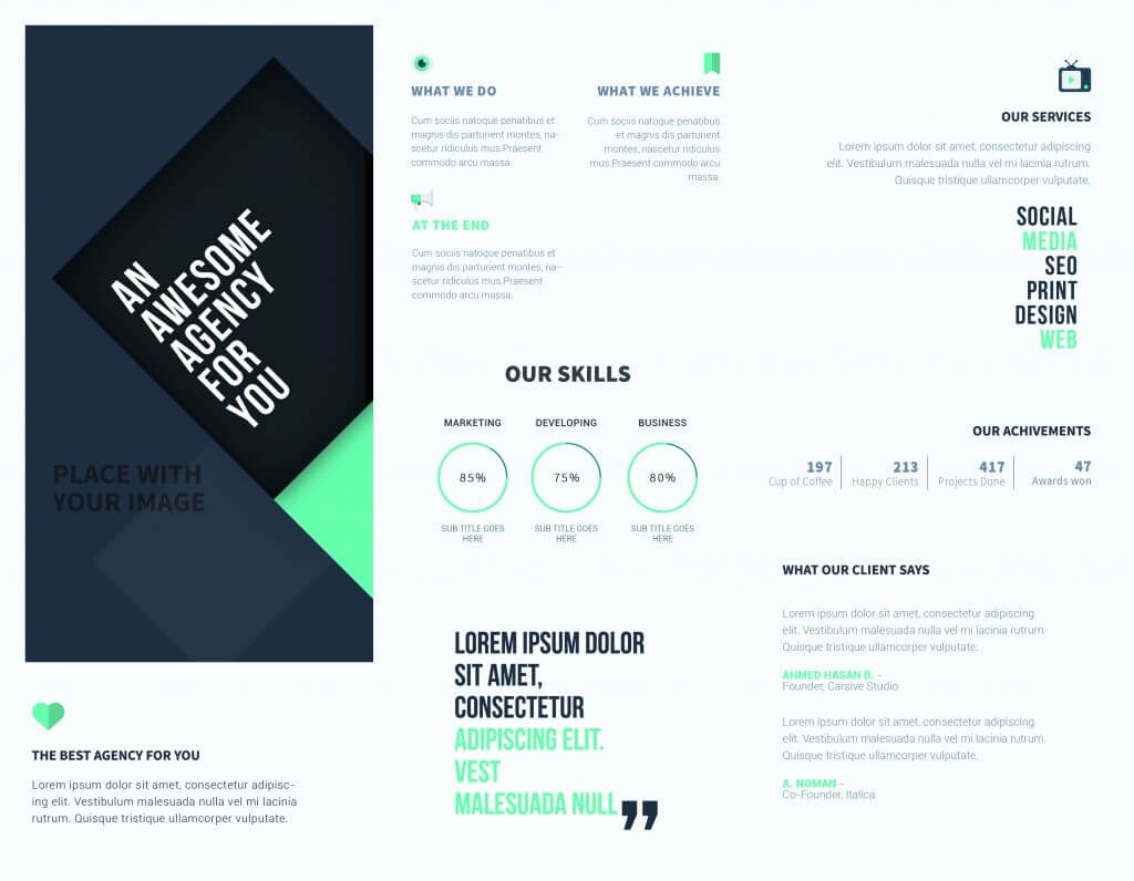 5 Free Online Brochure Templates To Create Your Own Brochure   Intended For Free Online Tri Fold Brochure Template