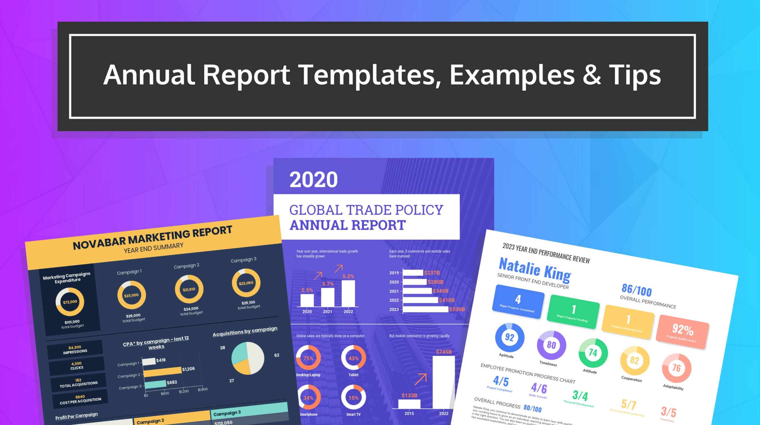 55+ Customizable Annual Report Design Templates, Examples & Tips Within Project Status Report Template Word 2010