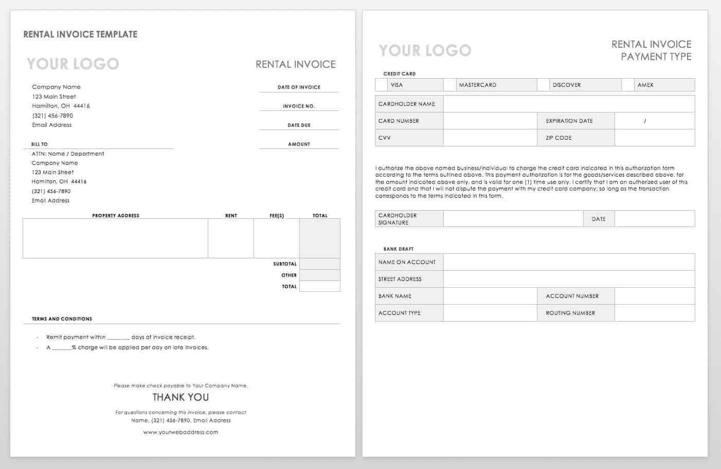 55 Free Invoice Templates   Smartsheet Throughout Web Design Invoice Template Word