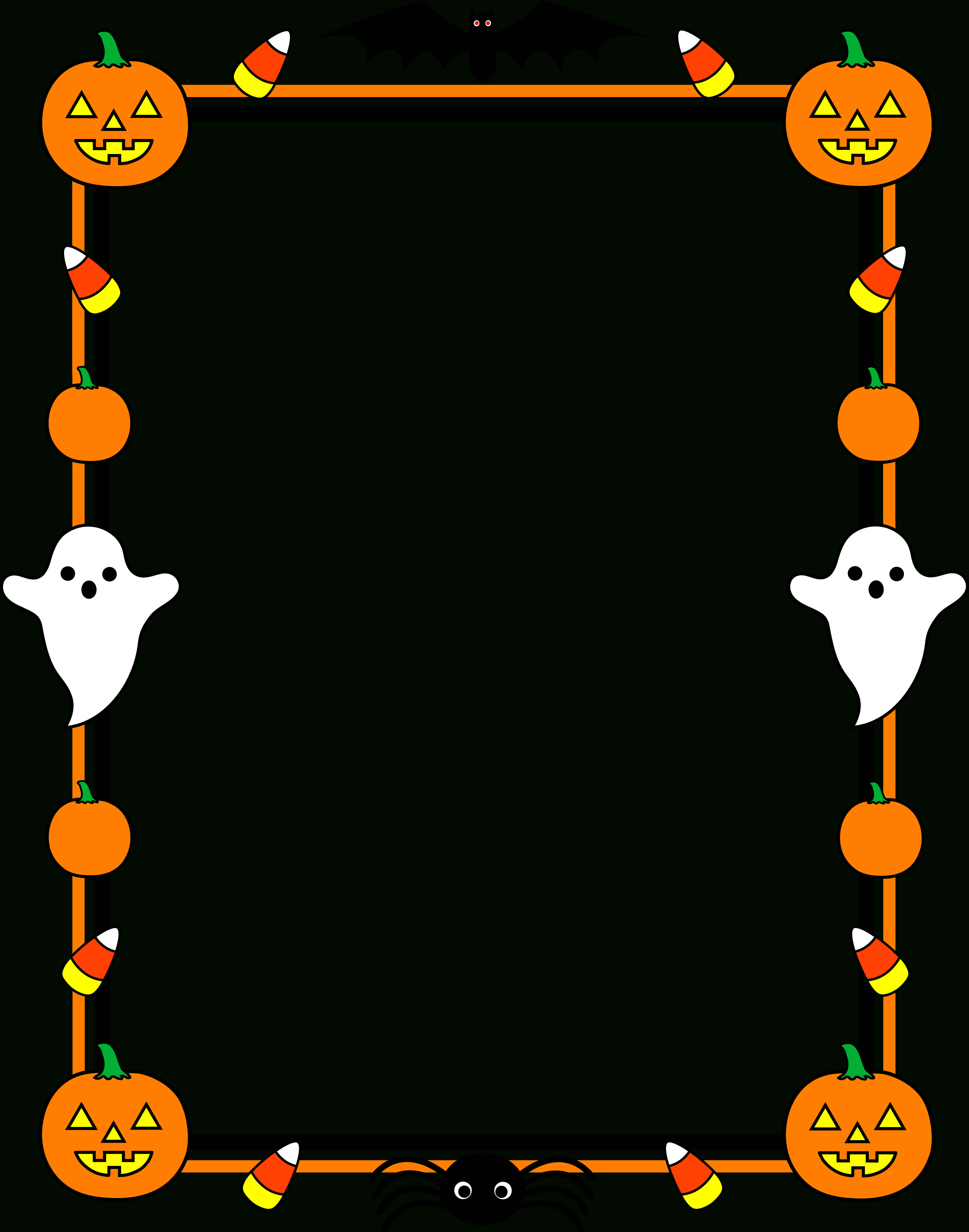 578 Halloween Border Free Clipart – 4 Pertaining To Free Halloween Templates For Word