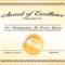 6+ Certificate Award Template - Bookletemplate within Sample Award Certificates Templates