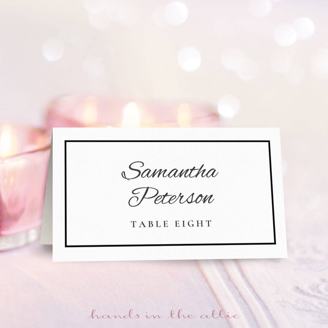8 Free Wedding Place Card Templates In Place Card Template Free 6 Per Page