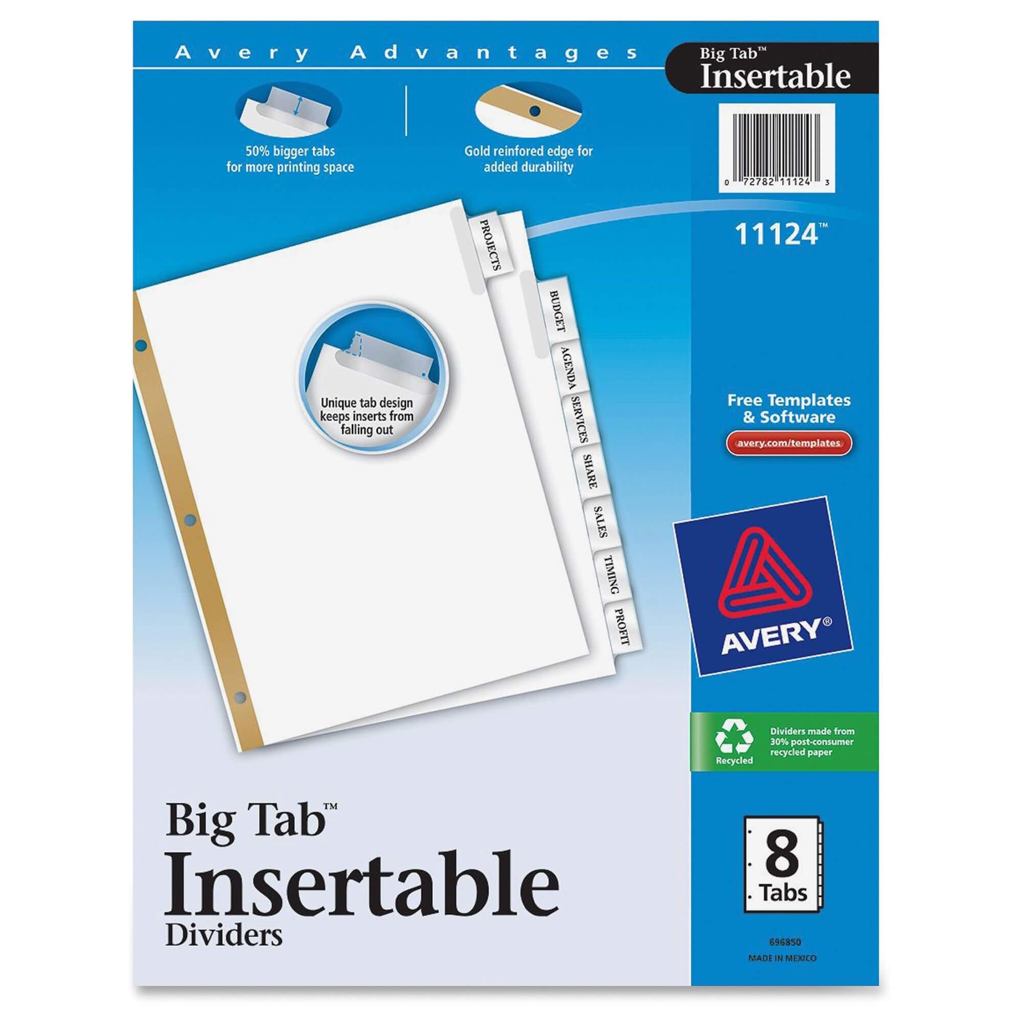 8 Tab Paper Dividers Regarding 8 Tab Divider Template Word