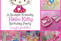 A Super Sweet Hello Kitty Birthday Party Using Free Printables within Hello Kitty Birthday Banner Template Free