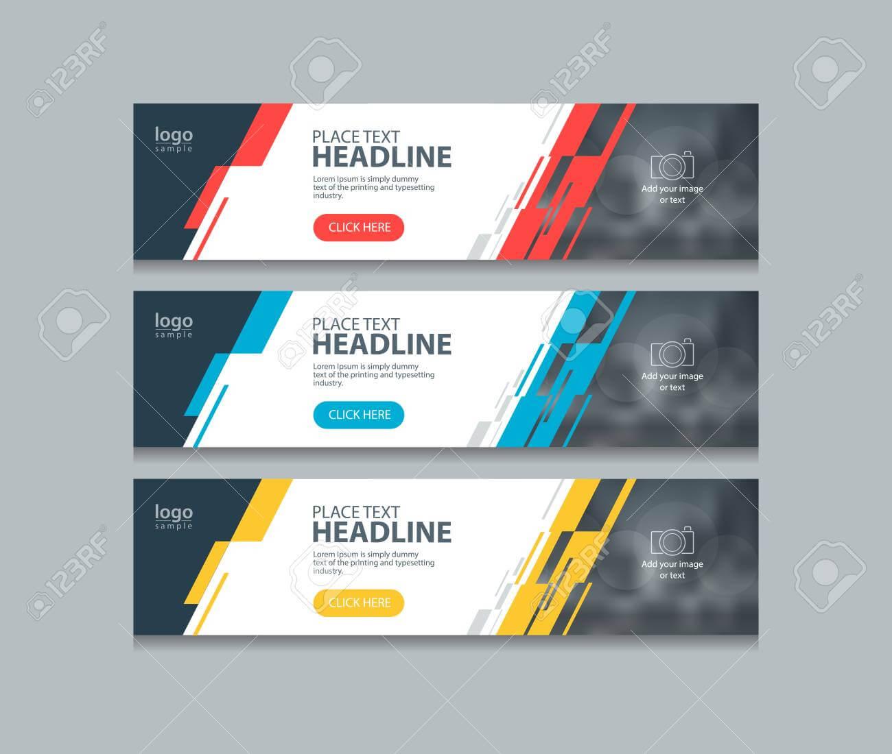 Abstract Horizontal Web Banner Design Template Backgrounds Regarding Website Banner Design Templates