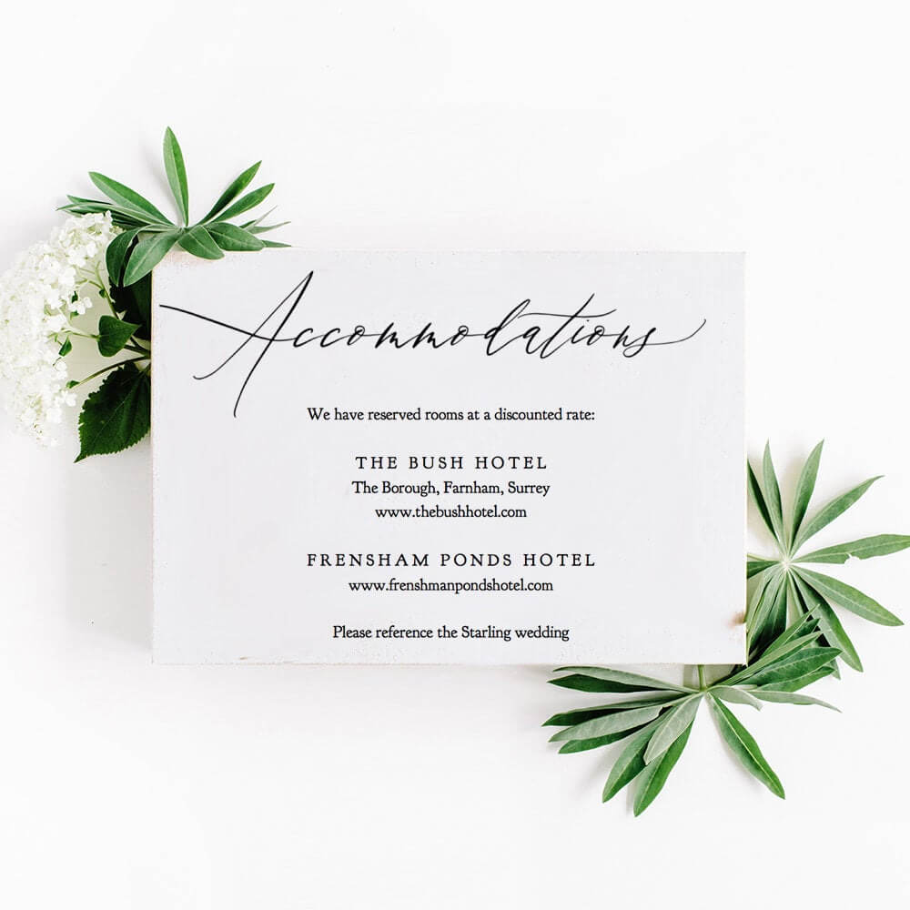 Accommodations Card Template Printable Accommodation Card Intended For Wedding Hotel Information Card Template