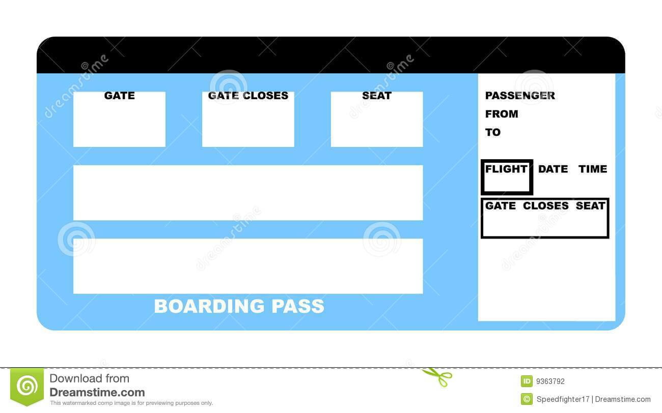 Airline Ticket Stock Illustration. Illustration Of Passenger Pertaining To Plane Ticket Template Word