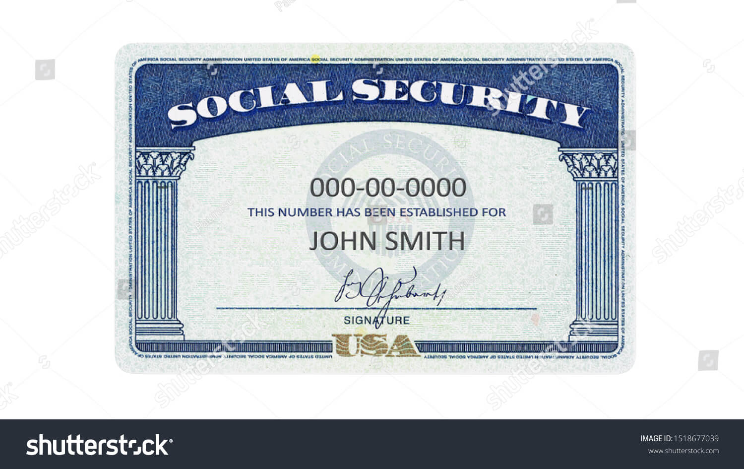 American Social Security Card Generic Filled Stock Regarding Ssn Card Template
