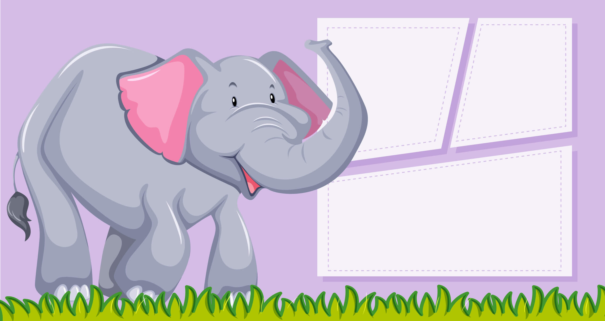 An Elephant On Blank Template - Download Free Vectors For Blank Elephant Template