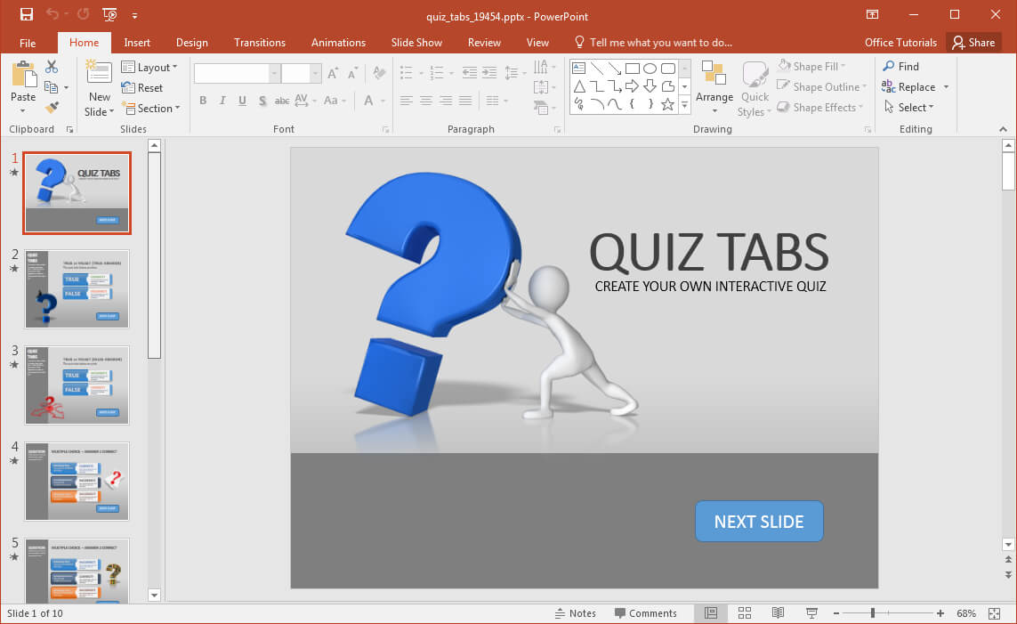 Animated Powerpoint Quiz Template For Conducting Quizzes Throughout Powerpoint Quiz Template Free Download